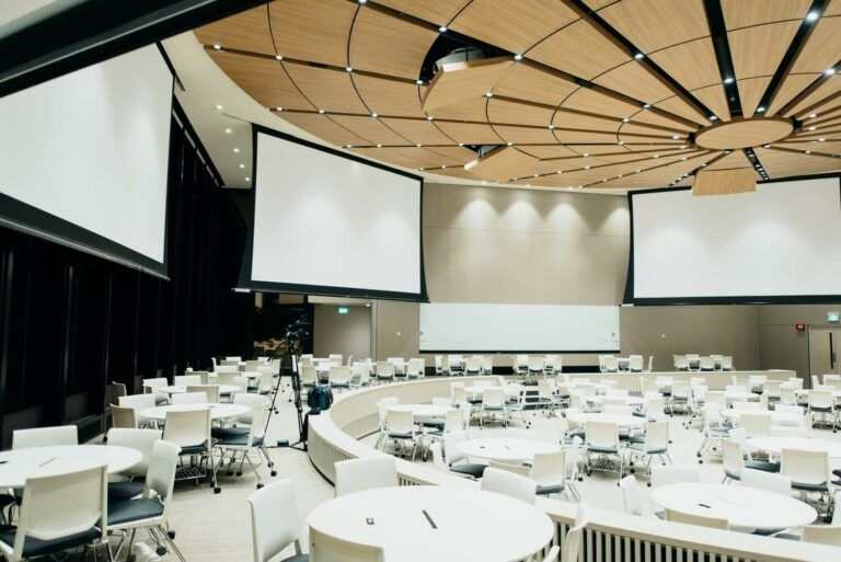 corporate room ready for an event